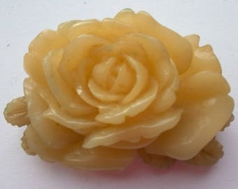Vintage English Rose Brooch