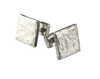 Sterling silver square cufflinks