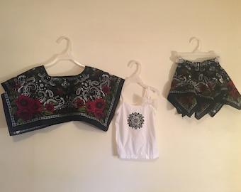 Bandana skirt and shirt outfit