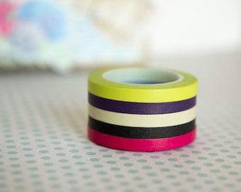 "Masking tape ""slim"" set of 5 different colors 5mm x 10m"