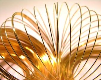 100 wire 0.6 mm - metal Gold 6.5 cm-bracelet-shape memory - AG