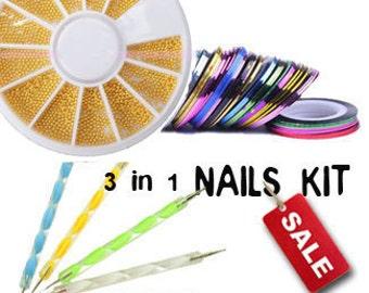 DIY Nails Kit Tools Supplies for Nails Tips Decoration