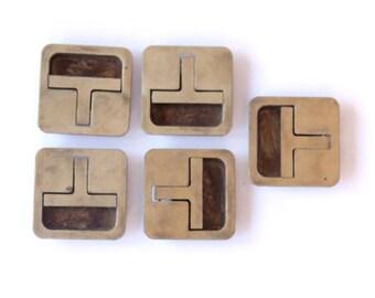 En laiton campagne commode poignée tiroir poignée tire Hardware (lot de 5)