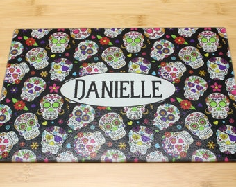Customised Day Of The Dead / Sugar Skull Chopping Board / Placemat