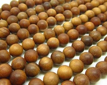 108pc Fragrant Sandalwood Beads, Yellow Sandalwood Beads  108  Mala ,Bead 8mm Round Bead