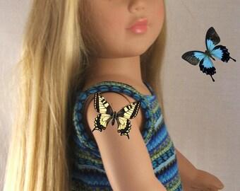 Blue multicolor Spaghetti Strap Cami for American Girl Doll