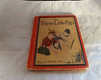 Very Rare Book The Three Little Pigs and The Foolish Pig 1934
