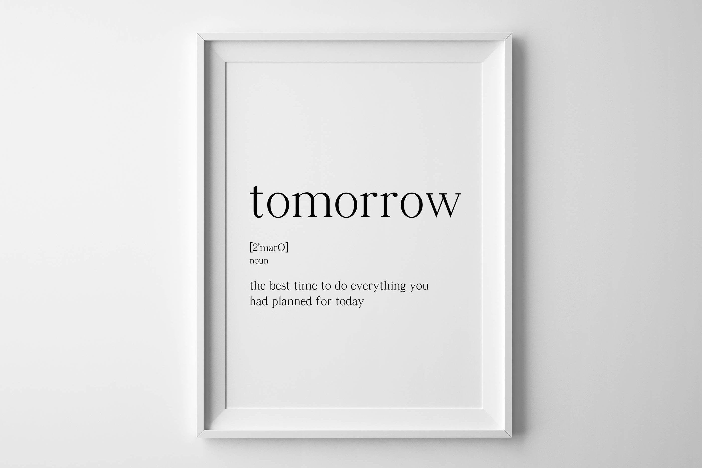 Morgen drucken Definitionen morgen städtischen Wörterbuch