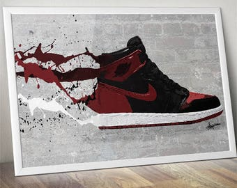Air Jordan / Nike / Trainer / Sneaker Wall Art Print / Poster Original Design A3, A2, A1, A0