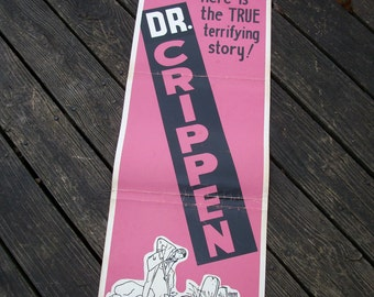 Original  1962 Theatrical Insert Movie Poster – Dr. Crippen