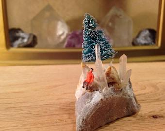 Mini winter crystal scene