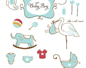 CLIP ART - Baby Boy - for commercial and personal use