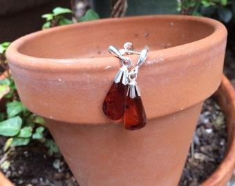 Baltic amber post earrings