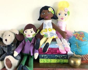 Custom Handmade Cloth Doll Handpainted Heirloom Doll