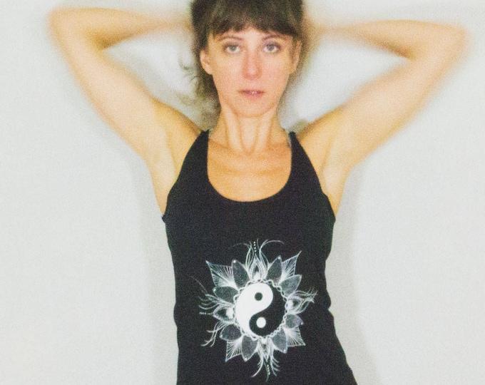Featured listing image: Yin Yang Tank Top Light and Dark Balance Yoga Meditation