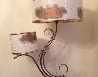 Vtg 1950s/60s Majestic Lamp fiberglass shade  MCM Danish MODERN Era Eames
