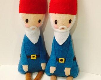 Gnome Doll. Gnome Plushie. Woodland Doll. Softie. Felt Doll.