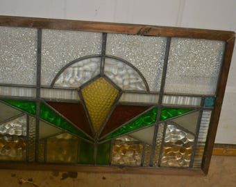 Vintage Framed Stained Glass Window - Perfect