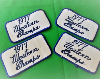 4- Vintage Patches~ 1977 Western Champs