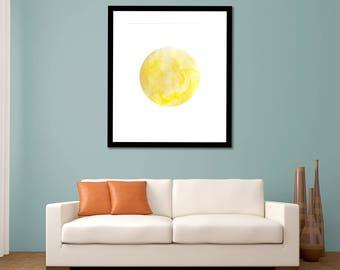 Planet Print - Digital Download - Solar System Art - Planet Watercolor - Space Art - Solar System Print - Watercolor - Instant Download