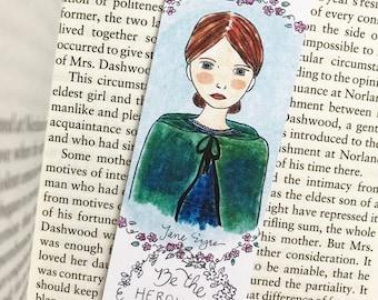 ON SALE Jane Eyre Bookmark, literary bookmark, English teacher gift, book club gift, literary gift