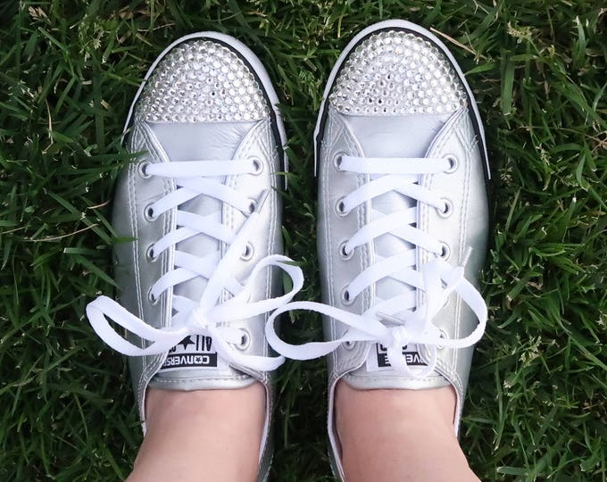 LUXURY Customised Swarovski Chuck Taylor All Star Dainty Converse Perfect for Weddings and Everyday