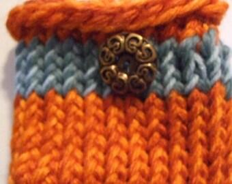 NFL Dolfins Teal  and  Orange   Mini    Knit Bag