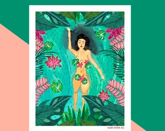 Tropical Spring Print-Wall Art