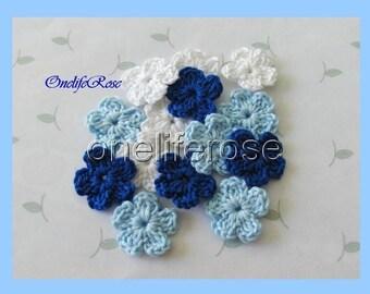 15 pcs Mini Crochet Flowers