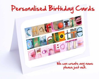Birthday Card for Charlotte - Personalised Birthday Cards for ANY name.