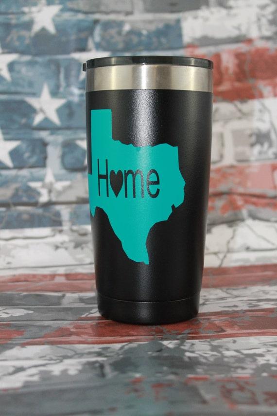 tumbler decal, Texas Decals, cup, yeti ozark, 30 oz decal, 20 oz decal, decals for women, Decals, state vinyl sticker, monogram sticker