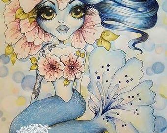 INSTANT DOWNLOAD Digital Digi Stamps Big Eye Big Head Dolls NEW Bestie  Mermaid Scan0002 Besties By Sherri Baldy