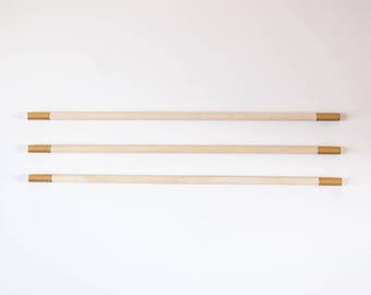 """Gold 14"""" Hanging Dowels for Weavings and other Fiber Wall Art"""