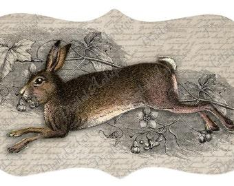 Jahrgang Kaninchen Tags druckbare Ostern digitaler Download