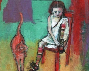 ACEO art reproduction - The Accomplishment