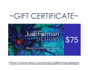 75 Dollar Gift Certificate