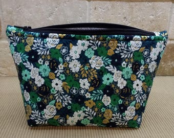makeup bag, cosmetic pouch, tampon case, toilety bag, zippered pouch