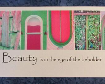 Beauty Photo Word Art Framable Print