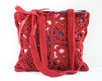 Crochet shoulderbag Robin