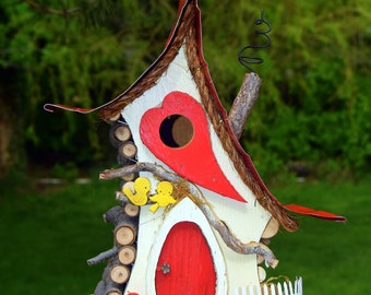 Birdhouse, Bird house, functional birdhouse, Love Shack,