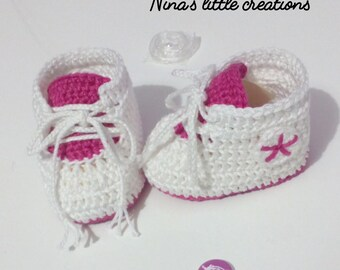 Newborn Crochet Sneakers