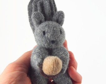 waldorf squirrel, waldorf toy, waldorf animal, stuffed animal, stuffed toy, wool felt toy, econfriendly toy, upcycled toy,