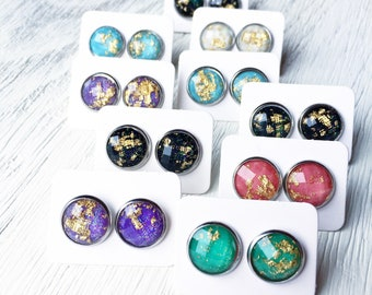 Gypsy Style Studs, Cosmic Studs, Stainless Steel