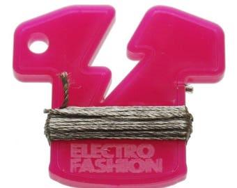 Electro-Fashion conductive thread, 6M Conductive Thread e textiles