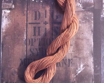 Natural Dyed cotton hand embroidery thread floss for Wabi Sabi, Sashiko Embroidery Slow stitch and Kumihimo  50 meters.