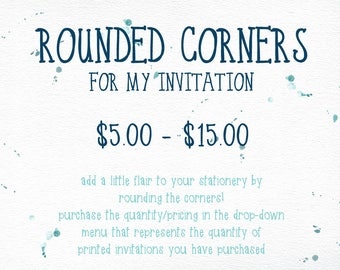 Rounded Corners for Invitation