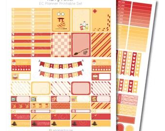 Erin Condren Harry Potter Printable Planner Sticker Set, Erin Condren Life Planner, Instant Download
