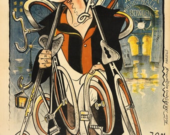 Bowden Bicycle Poster (#0618) 6 sizes
