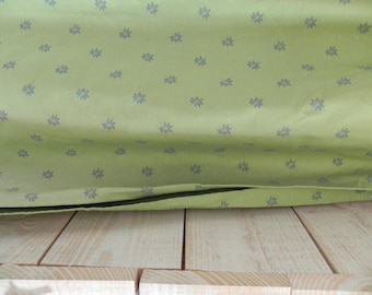Fabric green/mounted ruflette curtain Panel