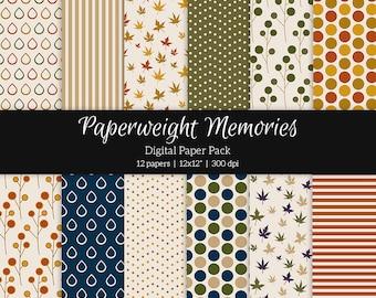 "Digital patterned paper - Memories of you -  digital scrapbooking - scrapbook paper - 12x12"" 300dpi  - Commercial Use"